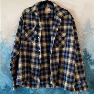 Vintage grunge flannel